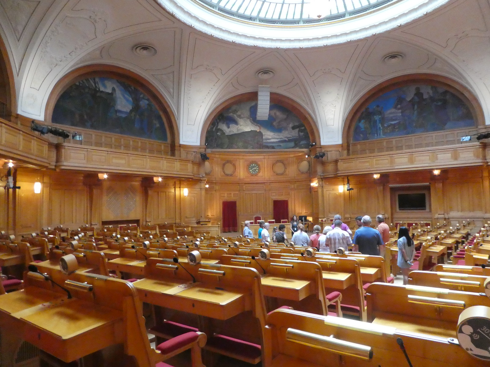 The Octagonal Second Chamber, Swedish Parliament, Stockholm