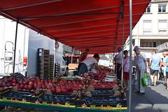 Saturday Market at Saint Lo, Normandie. - Photo of Villiers-Fossard