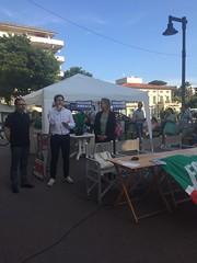 Marina di Massa, chiusura campagna elettorale del candidato sindaco Francesco Persiani