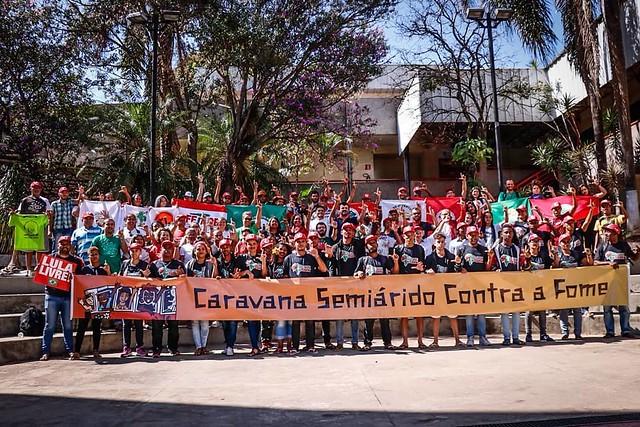 Caravana Contra a Fome chega a Curitiba e divulga carta para Lula