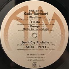 GATO BARBIERI:CALIENTE!(LABEL SIDE-A)