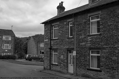 1 Aspinall Street, Mytholmroyd. Birthplace of poet Ted Hughes.