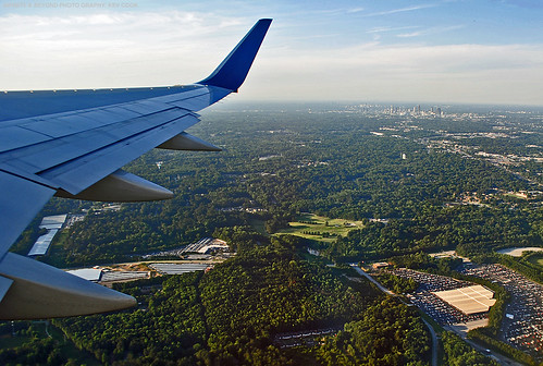 atlanta city view landscape airplane airliner window seat wing winglet planes aviation photos photography