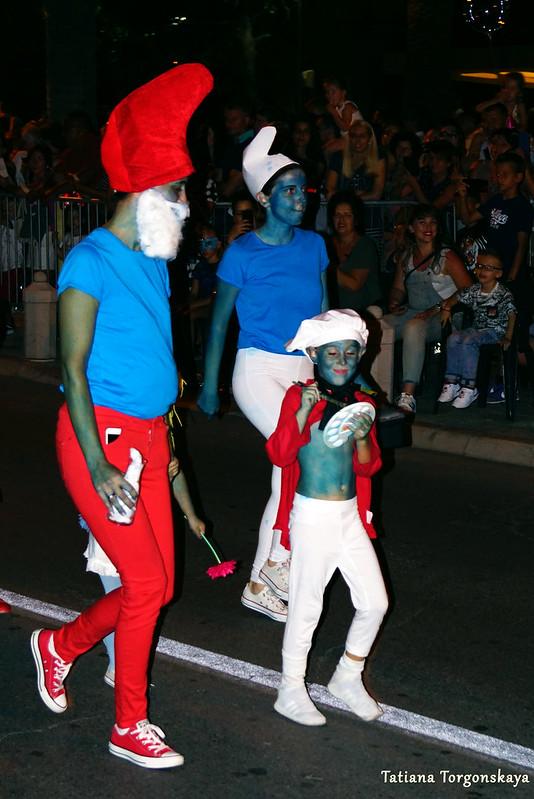 Смурфики на Которском карнавале