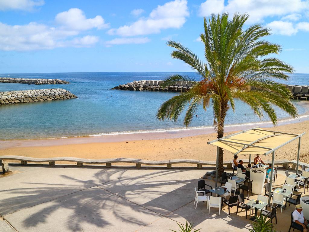 Playa de Calheta en Madeira