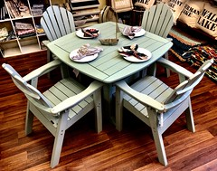 Seaside Casual Four Seat Dining in Sage
