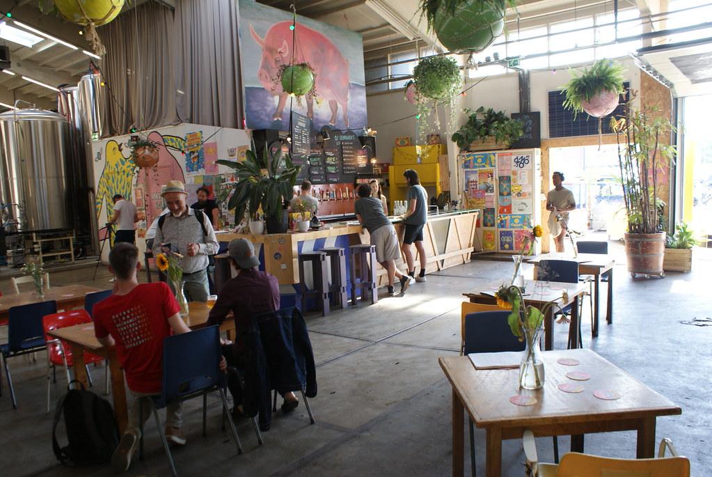 Salle de dégustation de l'Oedipus à Amsterdam ouverte en fin de semaine.