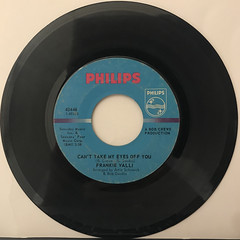 FRANKIE VALLI:CAN'T TAKE MY EYES OFF YOU(RECORD SIDE-A)