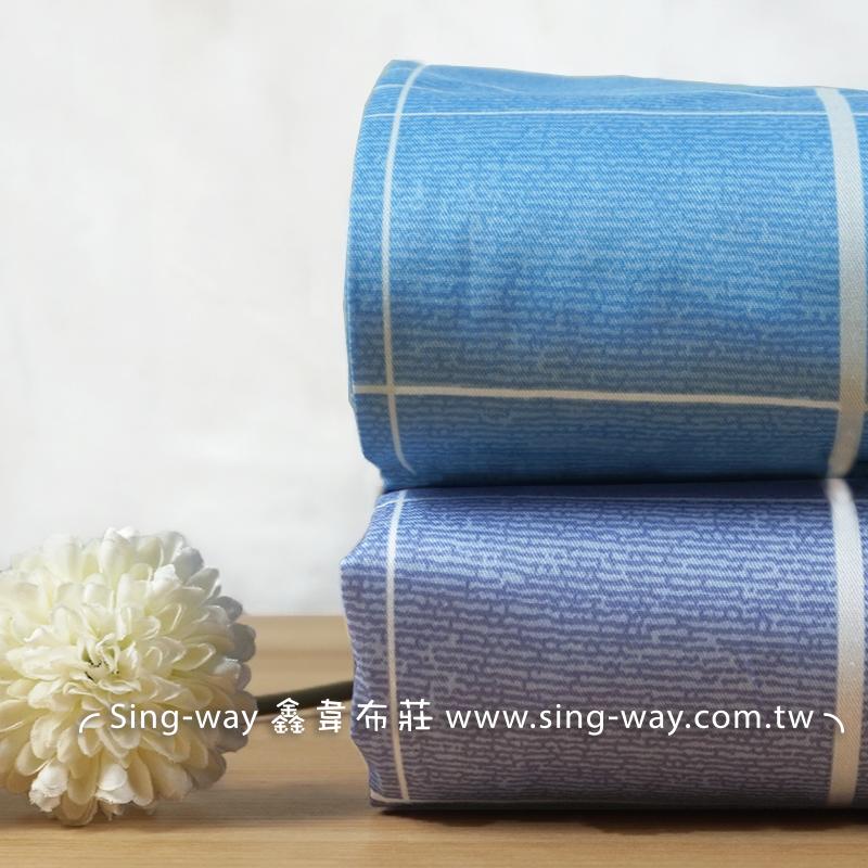 格子 簡單風格 簡約 方格圖案 簡樸 精梳棉床品床單布料 CA490382