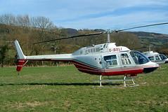 G-BXLI Bell 206B-3 Jet Ranger III [4041] Cheltenham Racecourse~G 16/03