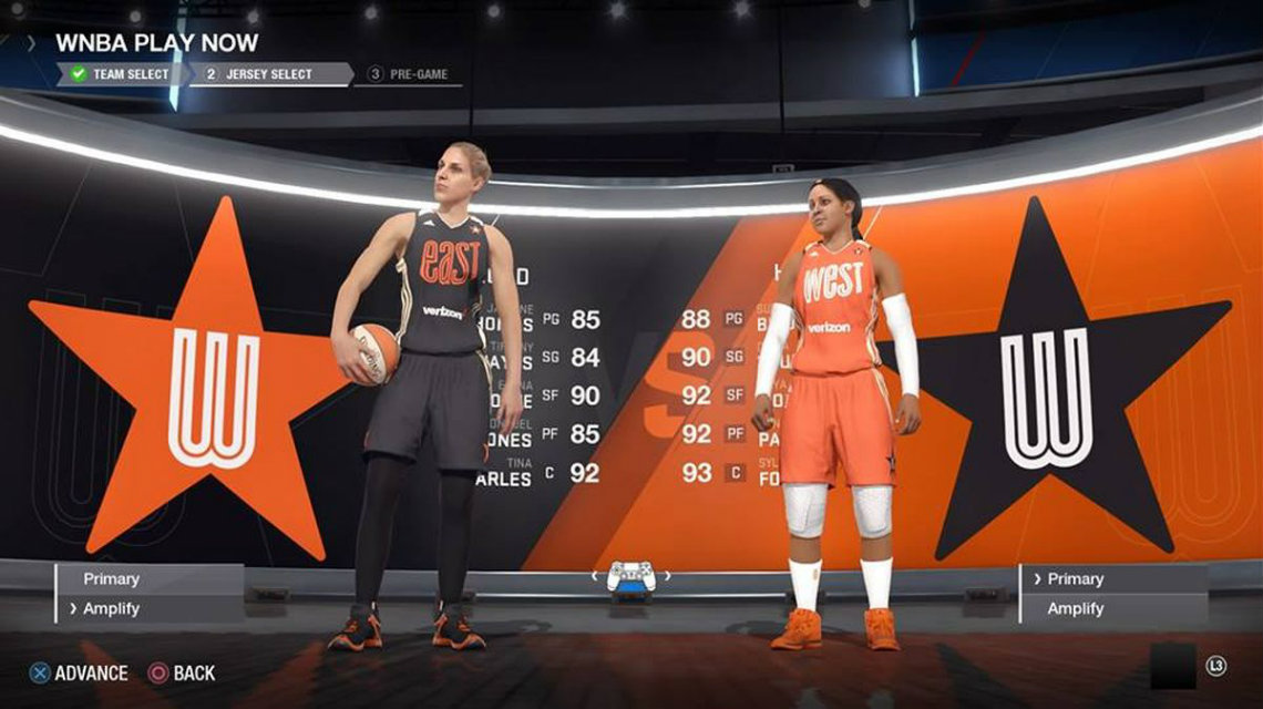 NBA Live 19 WNBA pozisyonlara göre en iyilerin oyuncu güçleri
