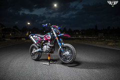 Supermoto Bike Nachtshooting