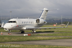 N650LC Bombardier Challenger 650 Private Glasgow airport EGPF 16.08-18