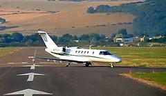 Cessna 525 CitationJet CJ4 M-FLYI Brighton Shoreham Airport webcam cap