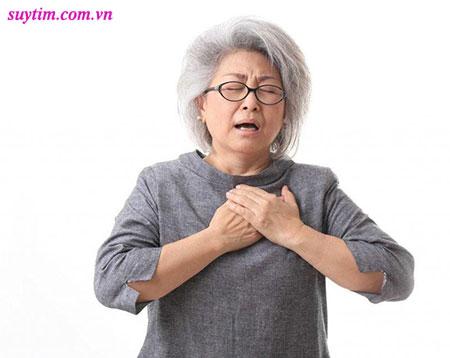Bệnh suy tim thường gây khó thở, đặc biệt là khó thở về đêm