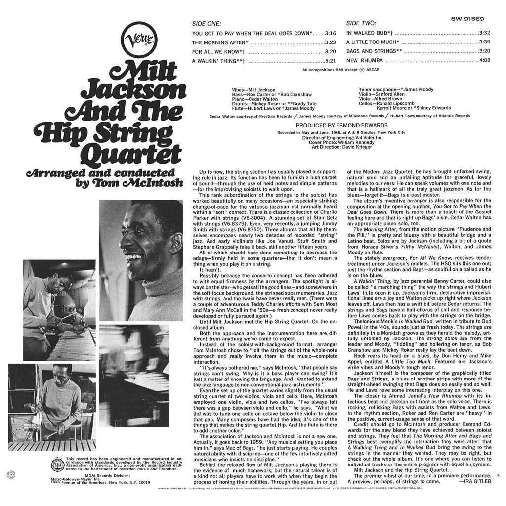 Milt Jackson and the Hip String Quartet