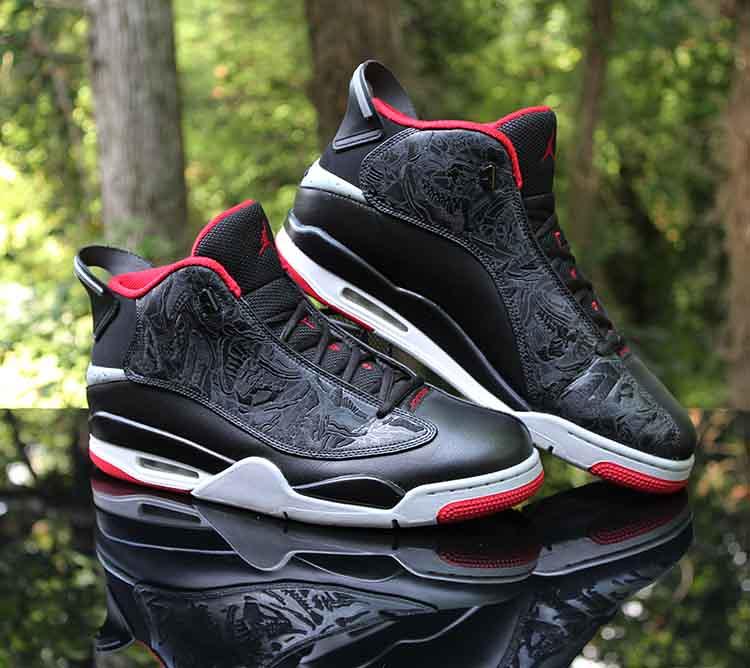 4a65d826852 Air Jordan Dub Zero Bred Black Gym Red Grey 311046-013 Men…