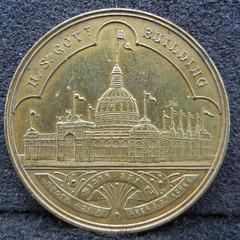 1893 Mint Exhibit Token obverse