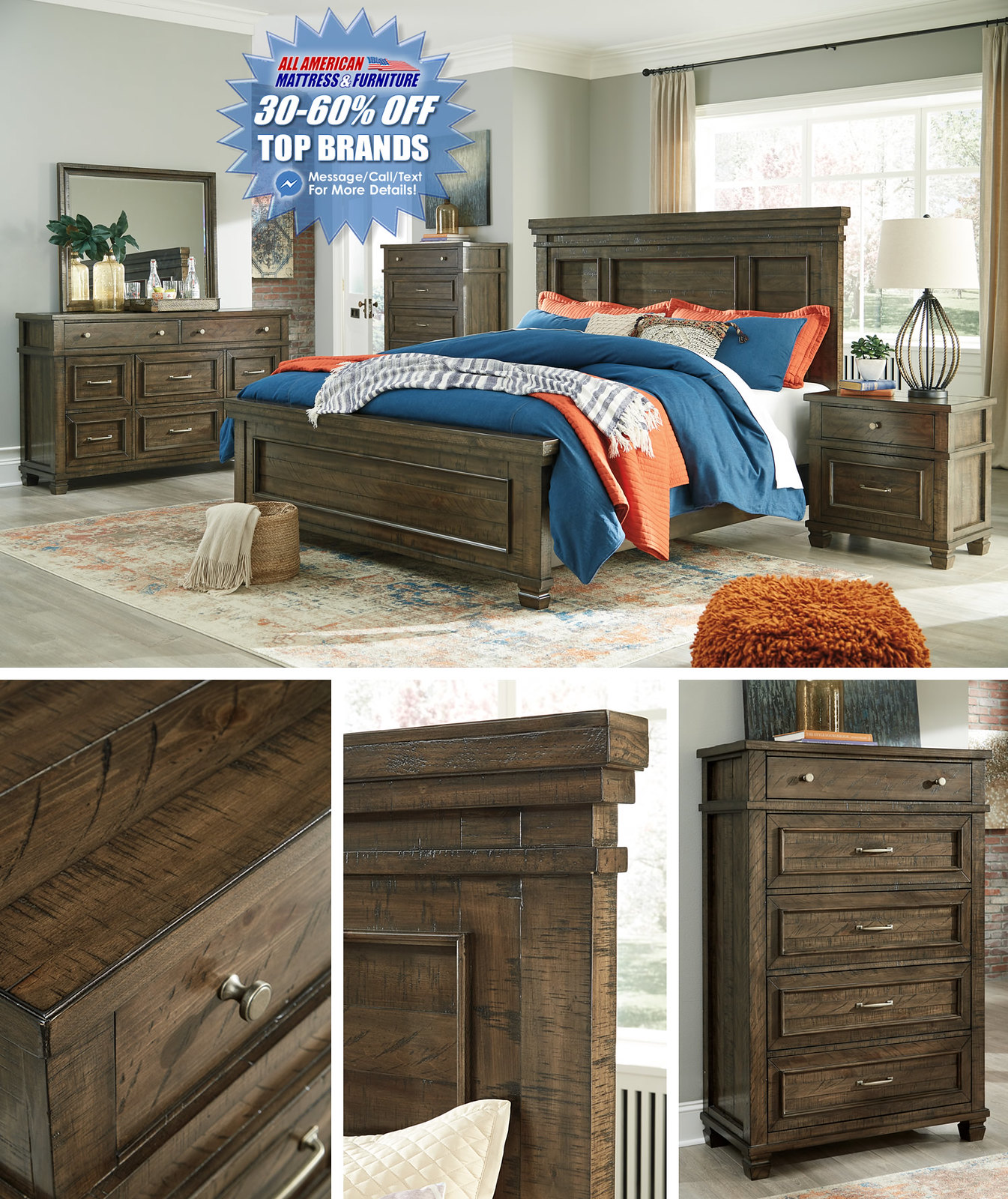 Darloni Weathered Brown Bedroom Set_B734-31-36-46-58-56-97-92-Q742_layoutStamped