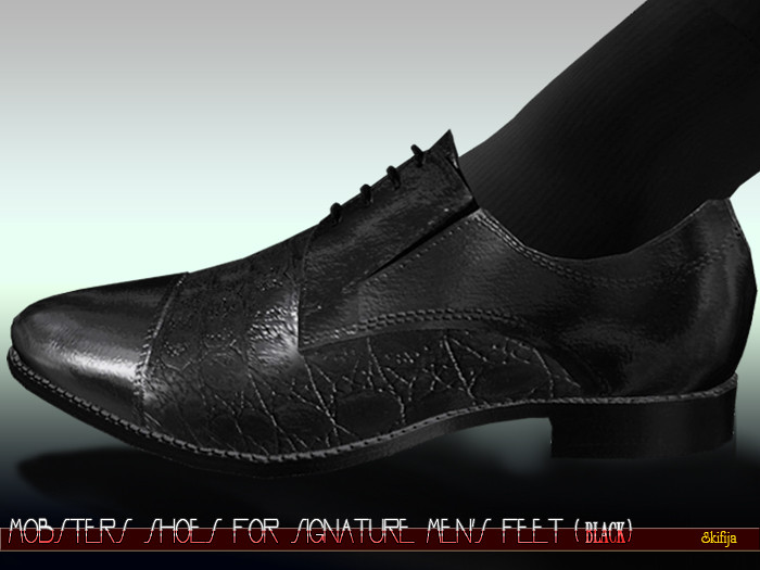 Mobster shoes for Signature mens feet Black - TeleportHub.com Live!