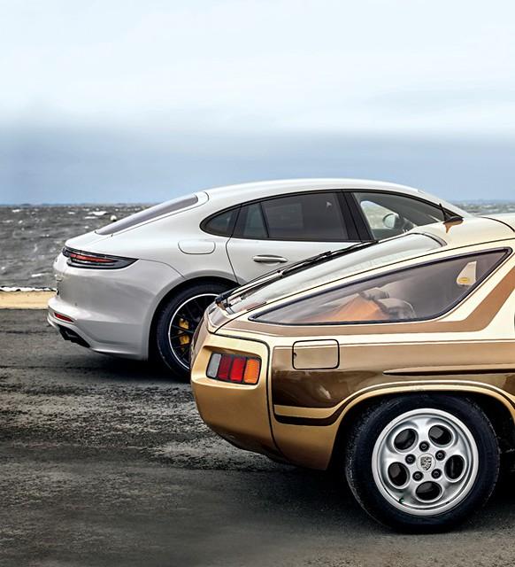 Porsche 928  vs. Panamera turbo.@  Stephan Lindloff