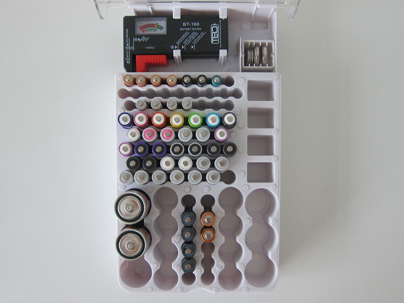 The Battery Organizer Storage Case - With Batteries