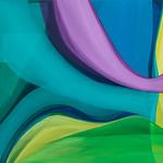 2018; Virginia Maitland; Optical Collider; Acrylic on canvas; 48x54; Photo by Wes Magyar - Virginia Maitland: 1965-Present at the Arvada Center
