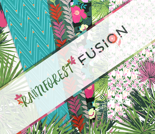 Art Gallery Fabrics Rainforest Fusion Collection by AGF Studio