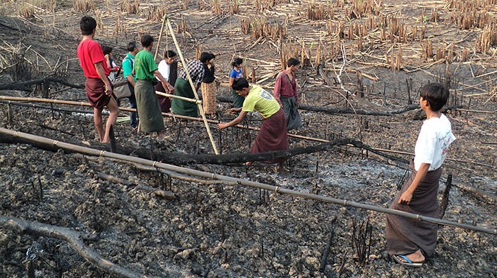 myanmar farmers