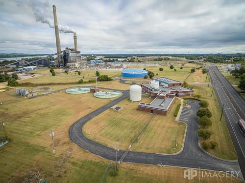 treament plant drone station utilities elmersmith industrial cavin water ess municipal aerial owensboro omu dji kentucky usa