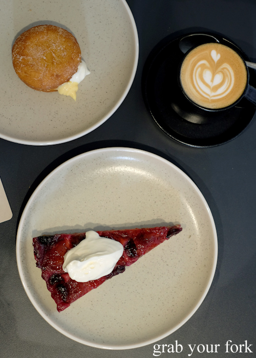 Coffee and dessert at A1 Canteen by Clayton Wells in Chippendale Sydney