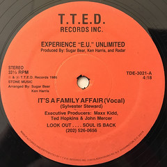 "EXPERIENCE ""E.U."" UNLIMITED:IT'S A FAMILY AFFAIR(LABEL SIDE-A)"