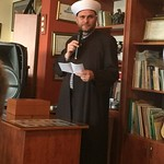 Sheikh Iyad speaking during Vassula's Honoring Ceremony