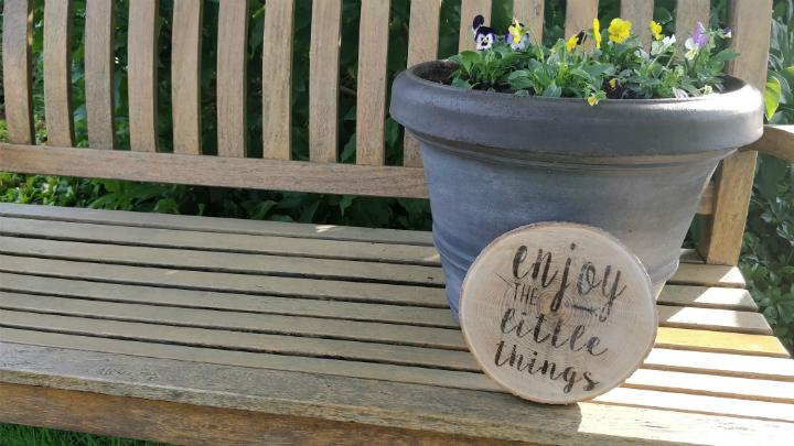 DIY: houten tekstplaatje