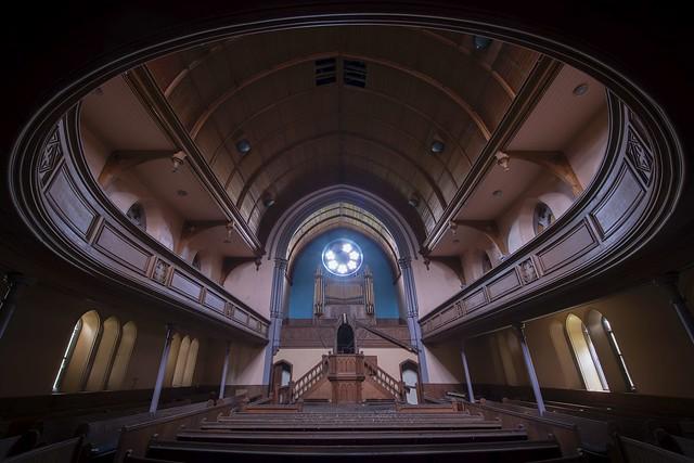 A 'round' the church...