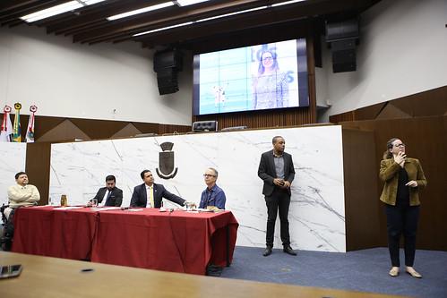 Seminário para discutir sobre o seguinte assunto: construindo a Lei Municipal de inclusão da pessoa com deficiência - Comissão de Direitos Humanos e Defesa do Consumidor
