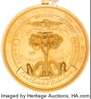 South Carolina Palmetto Regiment Gold Medal reverse