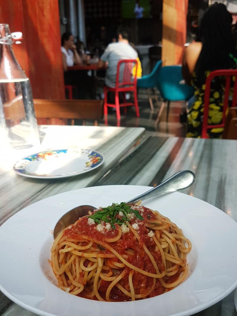 Pie Bar spaghetti