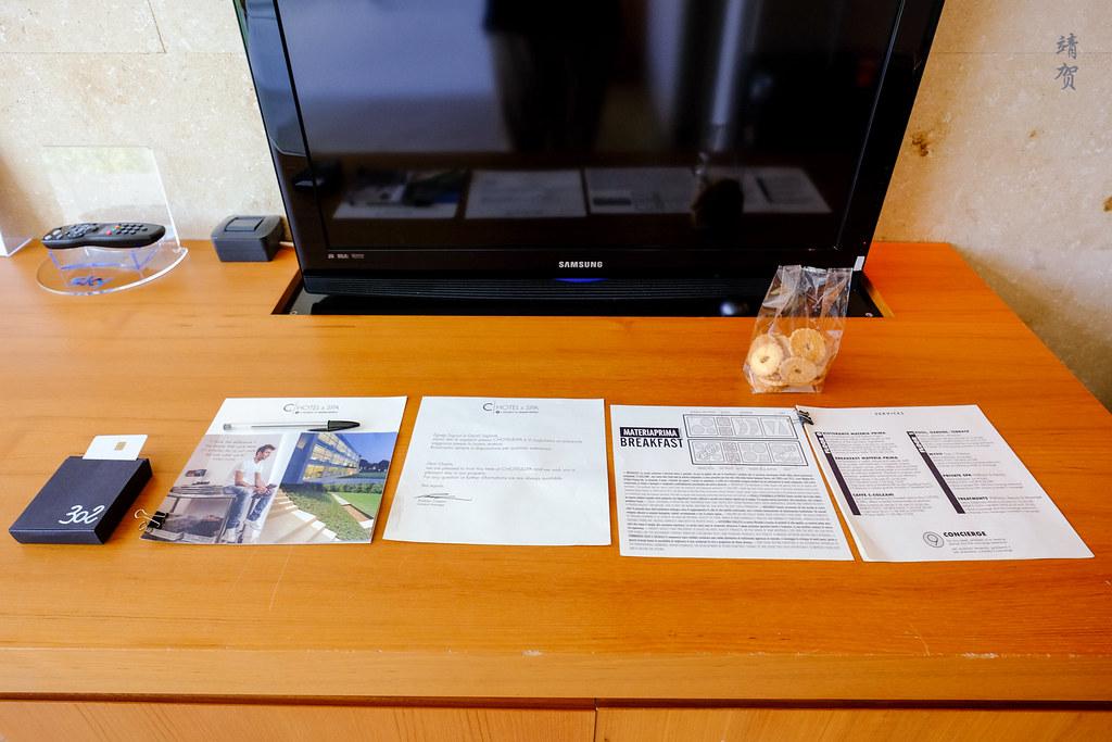 Hotel information leaflets