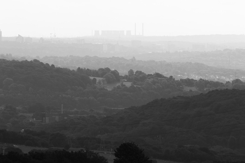 View Baildon Moor to Ferrybridge