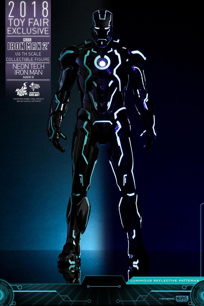 超未來感鋼鐵人參戰!! Hot Toys – MMS485D24 –《鋼鐵人2》霓虹科技鋼鐵人馬克4 Neon Tech Iron Man Mark IV 1/6 比例合金人偶作品【香港動漫節限定】