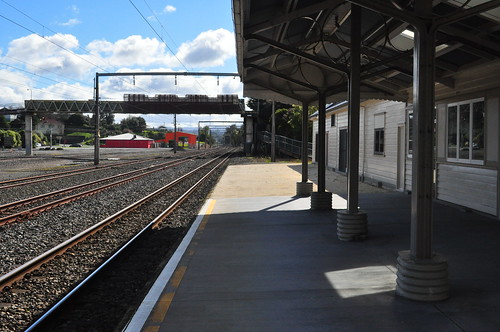 Te Kuiti Station - looking towards Auckland