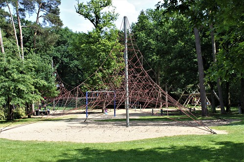 big spiderweb for climbing in playground