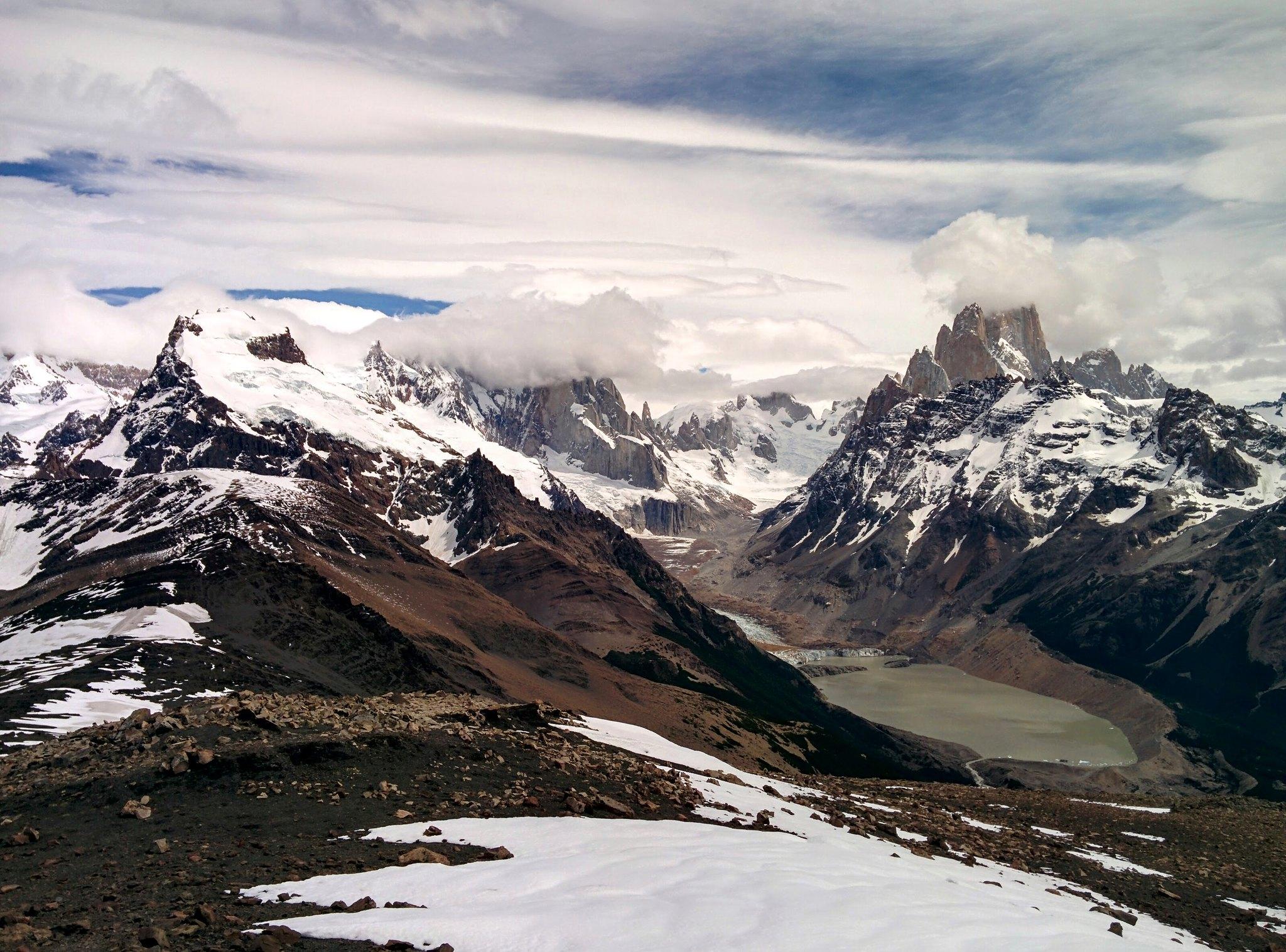 The Fitz Roy Range from Loma del Pliegue Tumbado
