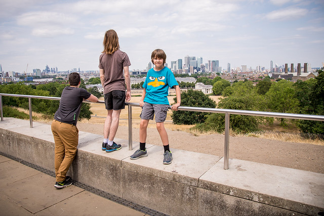 The view from the Royal Observatory at Greenwich