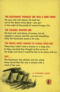 Pyramid Books 176 - Arthur Curtin - Love Off-Limits (back)