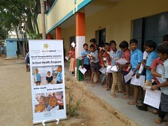 At the School Health Check-up @tcfindia