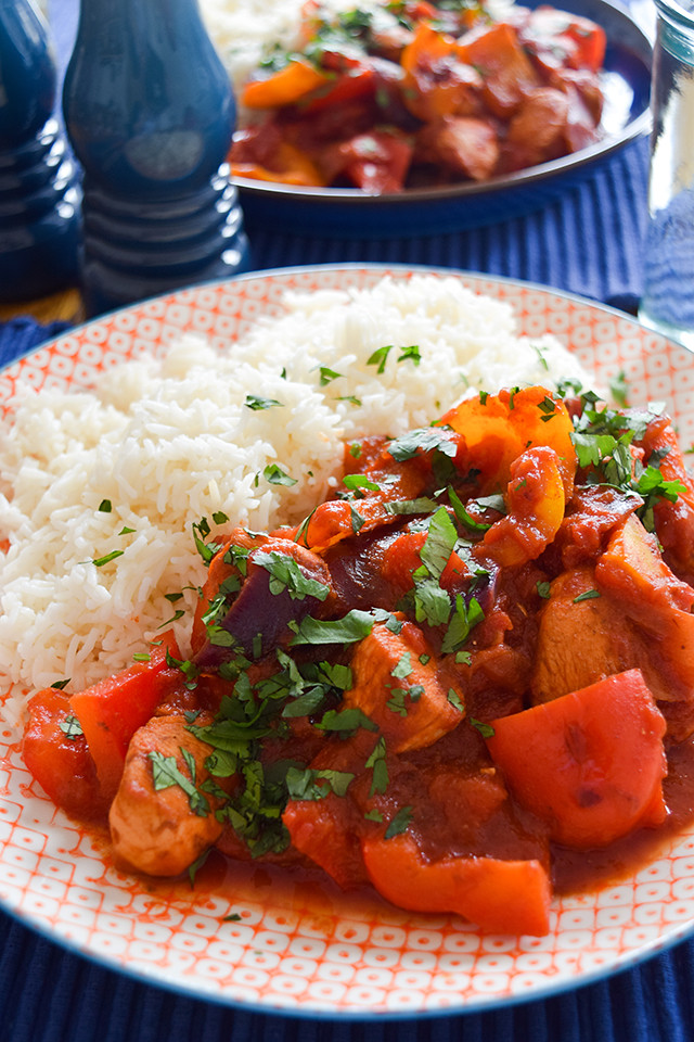 Mexican-style Chicken & Pepper Stir Fry
