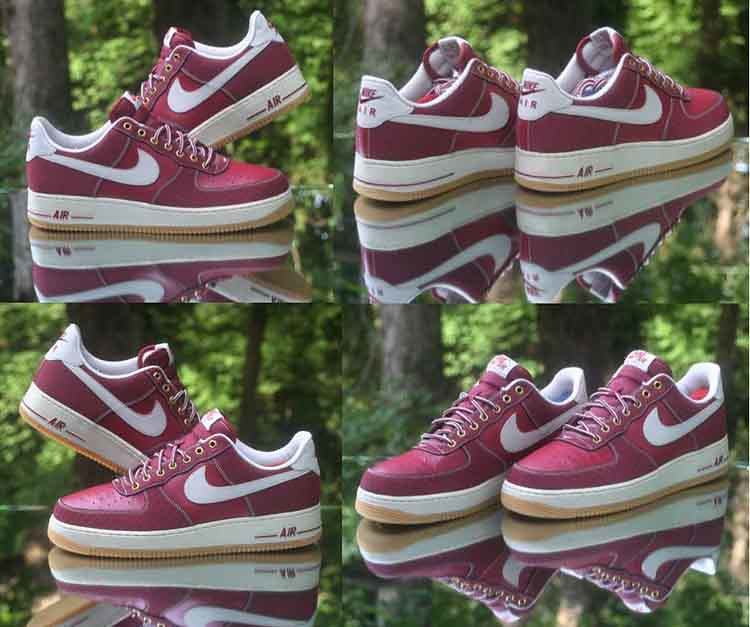 pretty nice 3a12d b8848 ... Nike Air Force 1 Low Team Red Light Bone Gum 488298-625 Men s Size 12