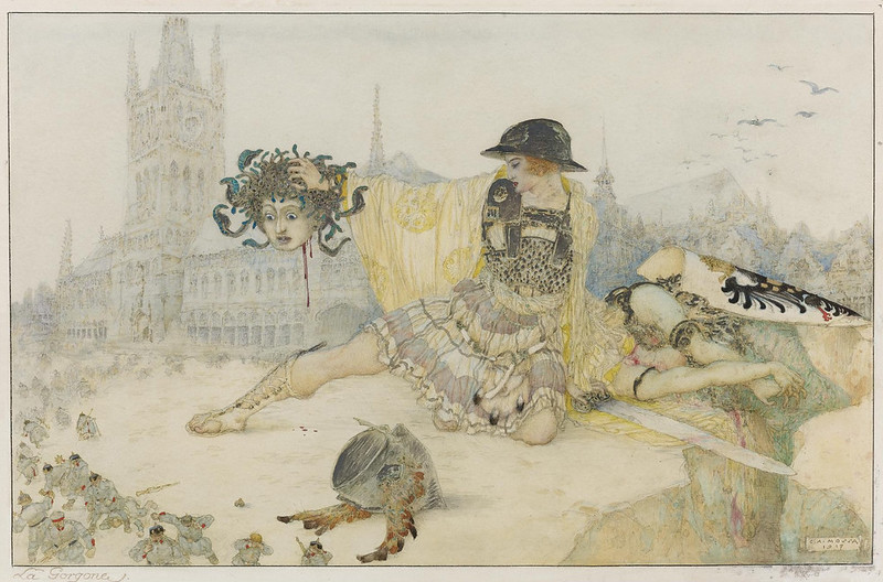 Gustav Adolf Mossa - The Gorgon, 1917